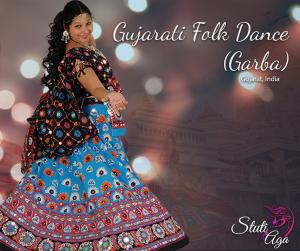 Indian folk dance Garba and Dandiya with Stuti Aga in Zurich Switzerland