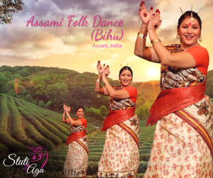 Bihu Indian Folk dance from Assam in Switzerland with Stuti Aga