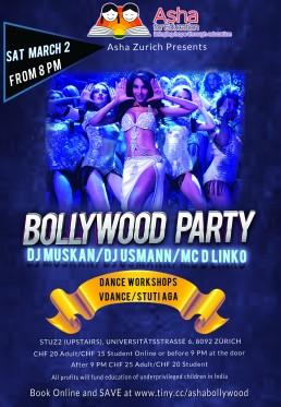 Bollywood Party 2019 Asha Zurich Stuti Aga Workshop