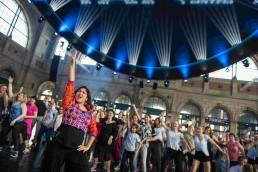 ZurichTanzt biggest dance festival in Switzerland with Stuti Aga Bollywood dance workshop at Zurich HB