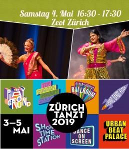 Zuerichtanzt 2019 Bollywood crashkurs with SADC team Stuti Aga at Zeot Zürich
