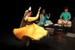 Stuti Aga dance performance with manish Vyas and Band at Choessi Theater Lichtensteig,Switzerland