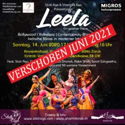Leela - Ein gelebter Traum Eine indische Fusion-Tanzproduktion Bollywood Volkstanz Contemporary Bharatanatyam Indische Tänze in Fusion und moderner Interpretation! Zurich Switzerland
