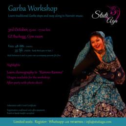 SADC Garba Workshop (Indian folk dance from Gujarat workshop) Navratri dance Zuirch Switzerland with Stuti Aga